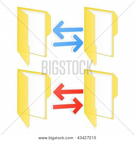 Folder Synchronization Icon. Vector Illustration