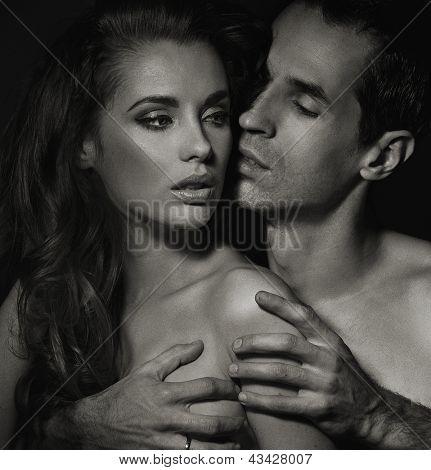 Retrato de um casal amoroso