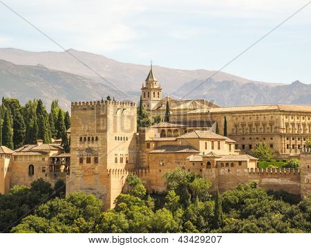 awesome Alhambra in Granada Spanien