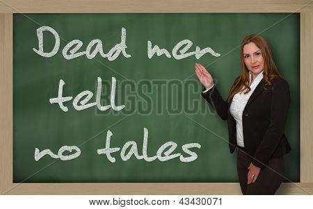Teacher Showing Dead Men Tell No Tales On Blackboard