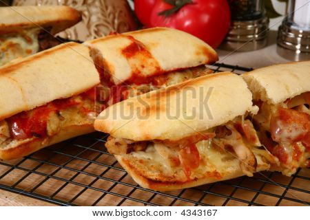 Hot Sub Sandwiches