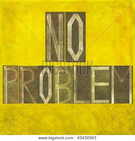 """Erdigen Hintergrund und Design-Element mit die Worten """"Kein Problem"""""""