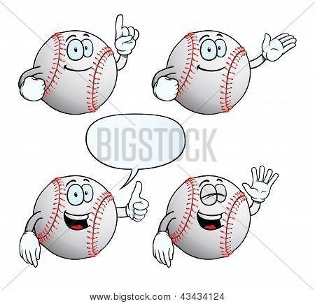Smiling baseball set