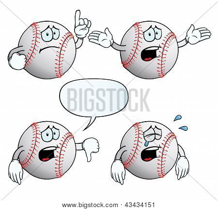 Crying baseball set
