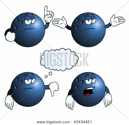 Bored bowling ball set