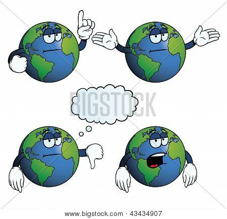 Bored Earth globe set
