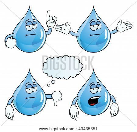 Bored water drop set