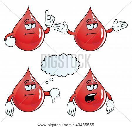 Bored blood drop set