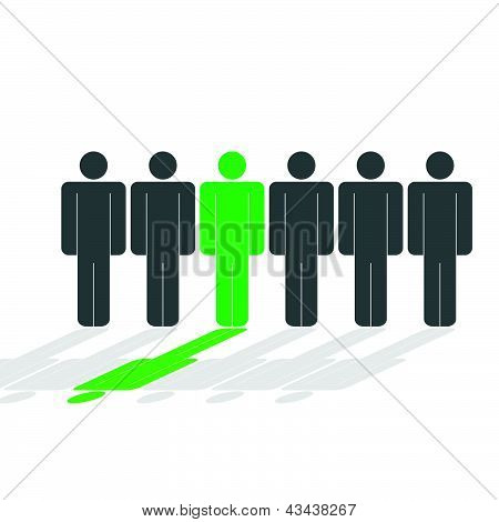 People Icon Vector Silhouette Illustration