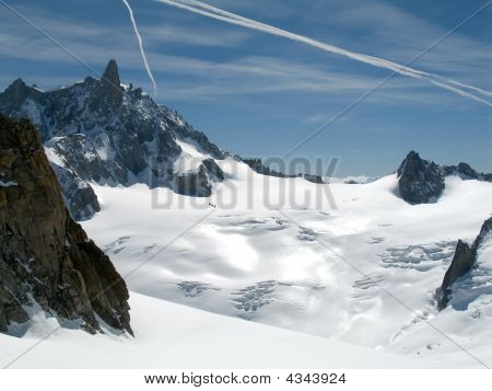 Dent Du Geant And The Helbronner