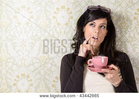Pensive Woman Having Idea