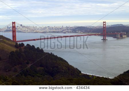 The Golden Gate Bridge And San Francisco