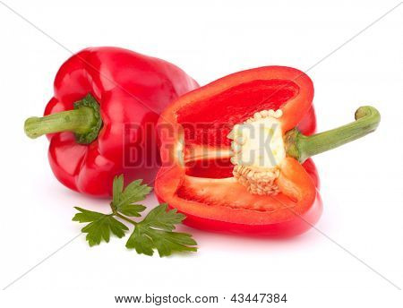 Paprika, isolated on white background