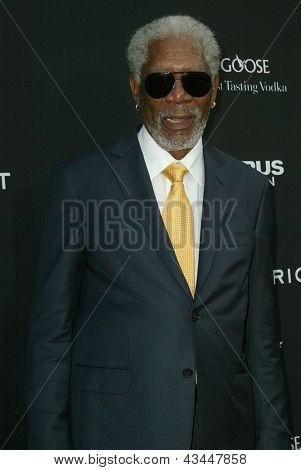 """LOS ANGELES - MARCH 18: Morgan Freeman arrives at the premiere of """"Olympus Has Fallen"""" at the ArcLight Hollywood Theatre in Los Angeles, CA on March 18, 2013."""