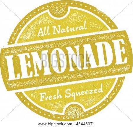 Vintage Style Lemonade Stamp