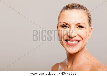 happy attractive senior woman close up portrait