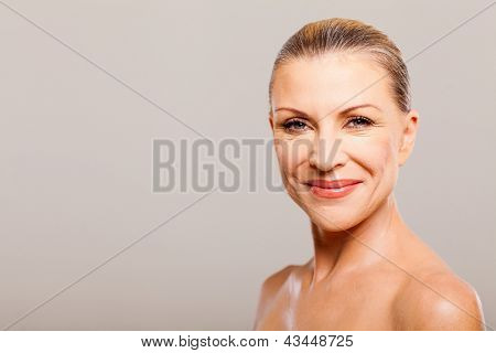 portrait of middle aged woman happy smiling