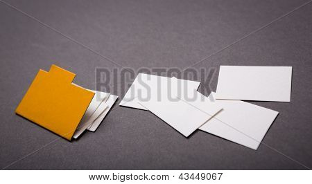 Paper cut of Manila folder with some document