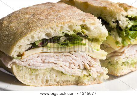 Sanduíche de Turquia gourmet