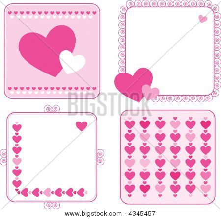 Valentine's Day Vector Greeting Cards