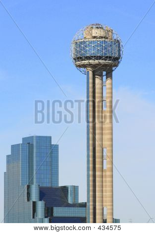 Reunion Tower And Skyline