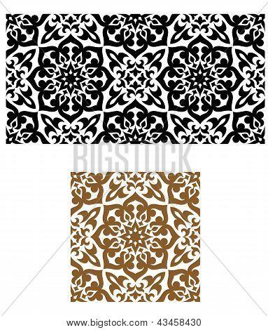 Arabic seamless ornament in retro style