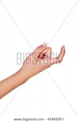 Hand beckoning