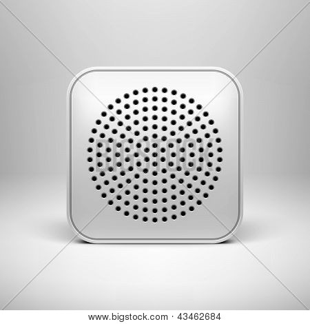 White Technology App Icon Blank Template