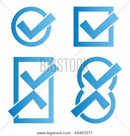 Blue Tick Icons