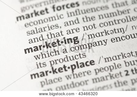 Marketing definition in the dictionary