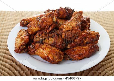 Chicken Wings On Bamboo Mat