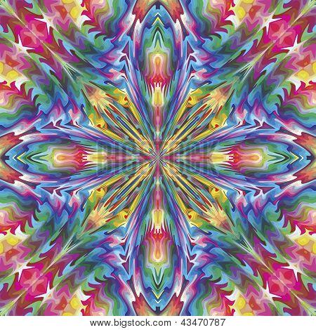 Mystical baroque cross pattern