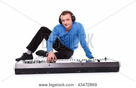 Man With Synthesizer