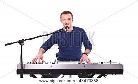 Portrait Of A Handsome Musician