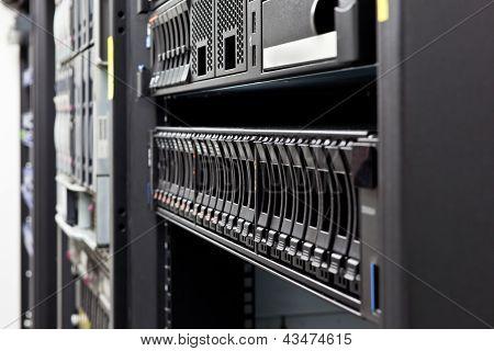 Detalle de discos duros servidor Rack
