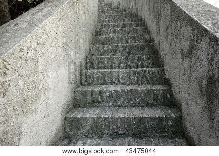 Old stairs leading up to a place