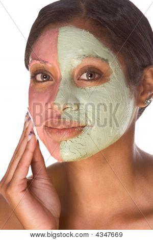 Woman In Beauty Spa  Experimental Facial Treatment