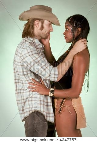 Interracial Romance Between Native Girl And White Man