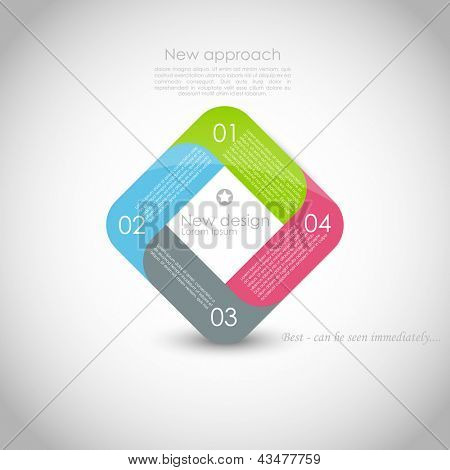 Modern Design template, numbered banners, horizontal cutout lines, graphic or website layout vector