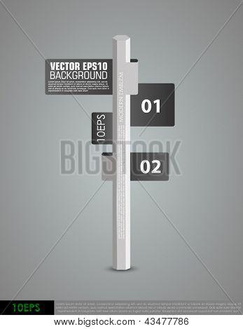Modelo criativo com banner de faixa de opções de ponteiro de coluna. Pode ser usado para infográficos. conceito de vetor il
