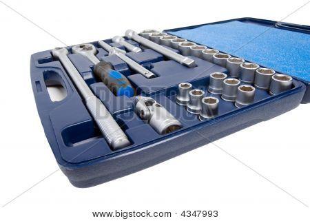 Set Of Metallic Tools .isolated