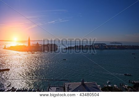 Beautiful Water Street - Evening View Gulf Of Venice, Italy