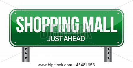 Shopping Mall Road Sign