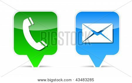 Phone And Mail Web Design Elements