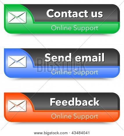 Online Support Web Design Elements