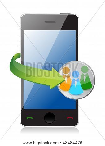 People Network Phone Concept