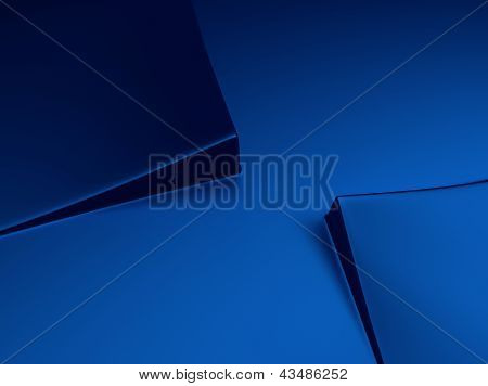 Blue Metallic Background With Squares