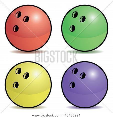 Bowling ball set