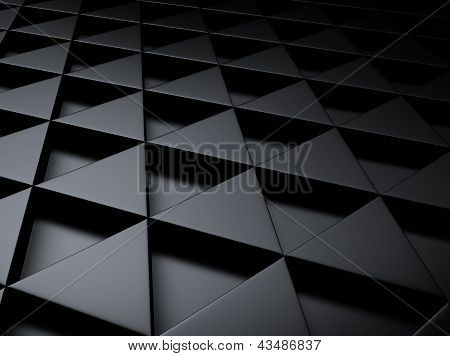 Industrial Metallic Background With Triangles.