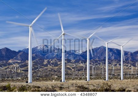 Wind Farm In Southern California